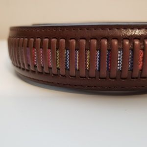 Other - Genuine Leather Men's Belt Brown w/color detail